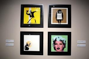2013-03-06 (101) sérigraphies sur pochettes de disques vinyles, Banksy