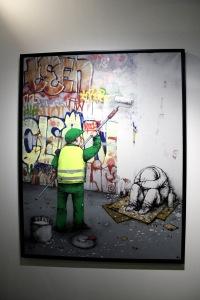 2013-03-06 (107) Ville propre, Technique mixte sur toile, 2011, Dran, Collection particulière