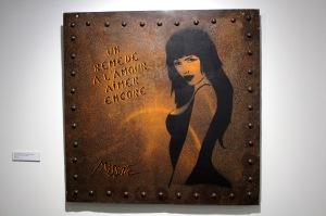 2013-03-06 (18) Un remède à l'amour aimer encore, Encre aérosol sur tôle, 2008, Miss. Tic, Collection de l'artiste