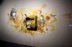 2013-03-06 (27) Nostos, Pochoir sur boite aux lettres, 2012, C215, Réalisation pour l'exposition