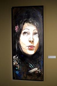 2013-03-06 (35) Marlène, Pochoir et acrylique sur bois, 2012, C215, Collection de l'artiste