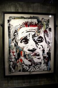 2013-03-06 (65) Disposable utopia series 10, Acrylique sur affiches collectées dans la rue, 2011, Vhils, Collection A Cliveux courtesy Galerie Magda Danyaz