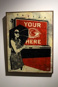 2013-03-06 (86) Billboard eye, Epreuve d'artiste sur bois (Hand painted Multiple), 2008, Shepard Fairey, Collection particulière