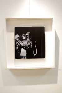 Art urbain - Banksy, (UK), Welder Rat, 2006, Pochoir sur métal