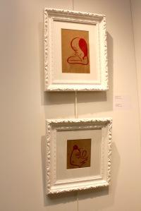 Art urbain - Barry McGee, (USA), Sans titre, encre rouge sur papier (1)