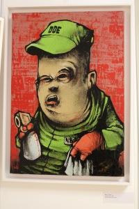 Art urbain - Dran, (France), employé DDE, 2003, Peinture aérosol sur toile
