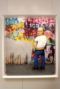 Art urbain - Dran, (France), Mr Propre (Mr Clean - Don Limpio), 2011, Peinture aérosol et brush (acétone) sur toile (2)