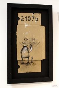 Art urbain - Dran, (France), Un 1950 aérosol, 2009, Technique mixte sur carton