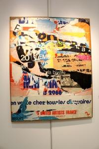 Art urbain - Jacques Villeglé, (France), Rue Saint Martin, 1975, Affiches lacérées, marouflées sur toile (1)