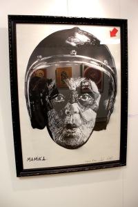 Art urbain - Jef Aérosol, (France), mamika (épreuve d'essai) - d'après une photo de Goldberger, 2011, Pochoir et bombe aérosol sur papie