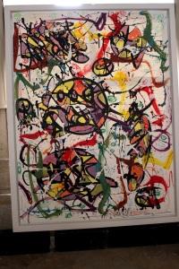 Art urbain - Jonone (USA), Pop your collars, 2008, Acrylique et peinture chromée sur toile