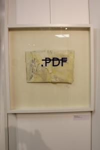 Art urbain - Rero, (France), Sans titre (.PDF), 2012, Livre, lettres adhésives et résine