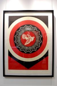 Art urbain - Shepard Fairey (Obey), (USA), Dove Target Black, 2012, Sérigraphie, Edition de 35 exemplaires (1)