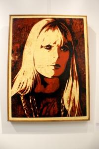 Art urbain - Shepard Fairey (Obey), (USA), Nico, 2010, Sérigraphie sur bois, Edition de 2 exemplaires