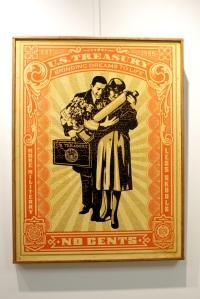 Art urbain - Shepard Fairey (Obey), (USA), Proud Parents, 2007, HPM, Sérigraphie collée sur bois, Edition de 2 exemplaires