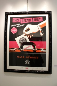 Art urbain - Shepard Fairey (Obey), (USA), Shoplifters Welcome, 2012, Sérigraphie, Edition de 50 exemplaires