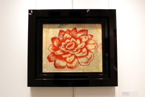 Art urbain - Shepard Fairey (Obey), (USA), Station to station flower 3, illustration en film Rubylith, Colorée et coupé à la main (1)