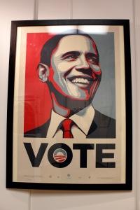 Art urbain - Shepard Fairey (Obey), (USA), Vote, 2008, Sérigraphie, Edition de 5000 exemplaires