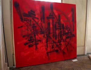 Art urbain - Sowat (France), sans titre, 2013, Aérosol sur planche en bois