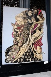 Art urbain - Swoon, (USA), Alixa & Naima, 2010, Gravure sur lino imprimée sur mylar (1)
